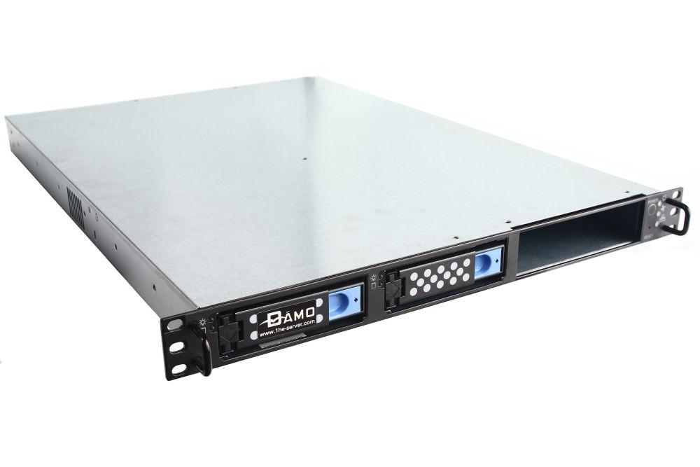 "19"" 1U Chassis Rack-Mount Case 1HE 19 Zoll ATX Server-Gehäuse 2x 3,5"" Hot-Swap 4060787109170"