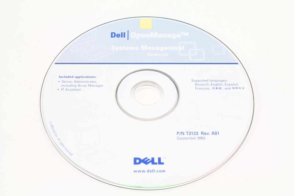 Dell P/N T3123 OpenManage Systems Management Version 3.5 Rev. A01 September 2003 4060787144652