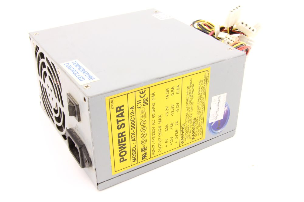 Power Star ATX-300C12-A 300W Desktop PC Computer Power Supply Unit / Netzteil 4060787276308