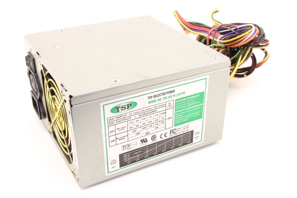Top Selected Power TPS-350 P4 (350 PII) Computer Power Supply 350W PC Netzteil 4060787276575
