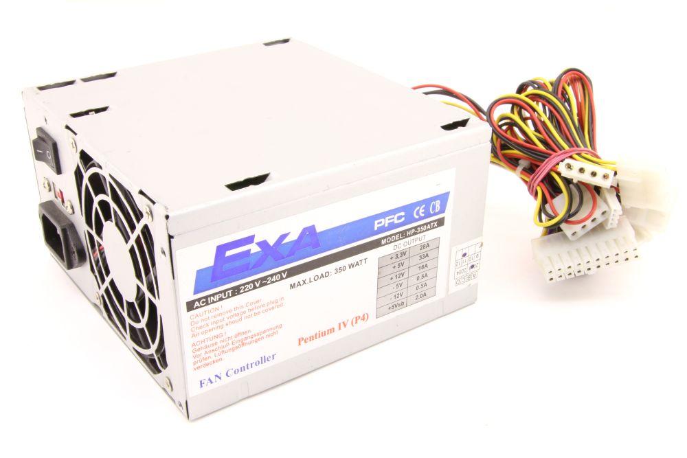 EXA HP-350ATX 350W Computer Power Supply PC Netzteil Fan Controller Pentium IV 4060787276629