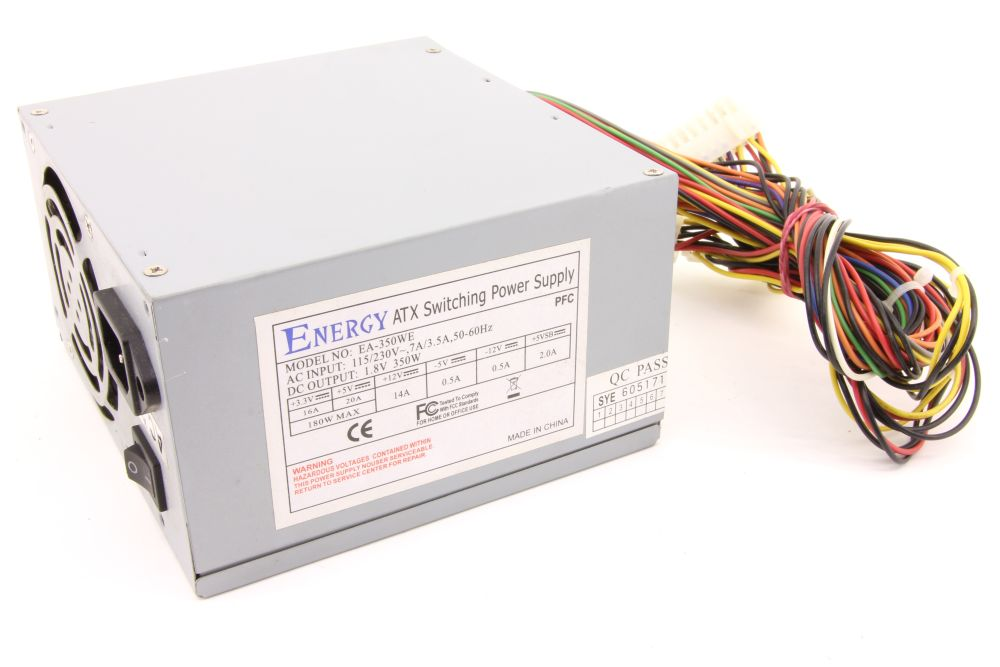 Energy EA-350WE ATX Switching Power Supply 350W Computer Desktop PC Netzteil 4060787276711