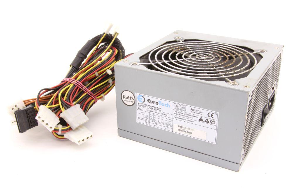 EuroTech FPSPA400SA 400W ATX PC Power Supply Unit Computer Netzteil Fan Control 4060787276735