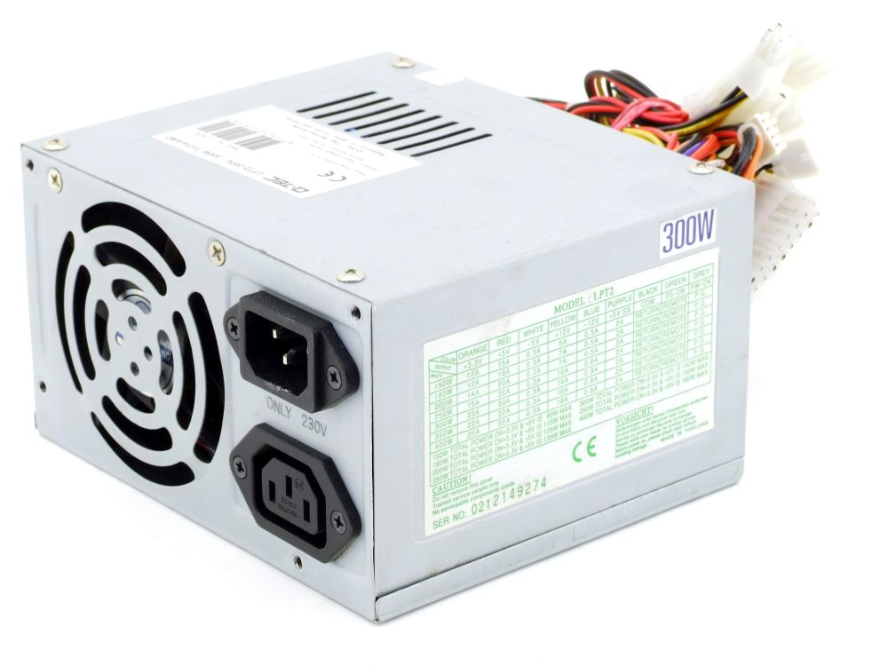 Q-Tec LPT2-20P4 300W ATX Computer Power Supply Desktop PC Netzteil Item No 12930 4060787307590