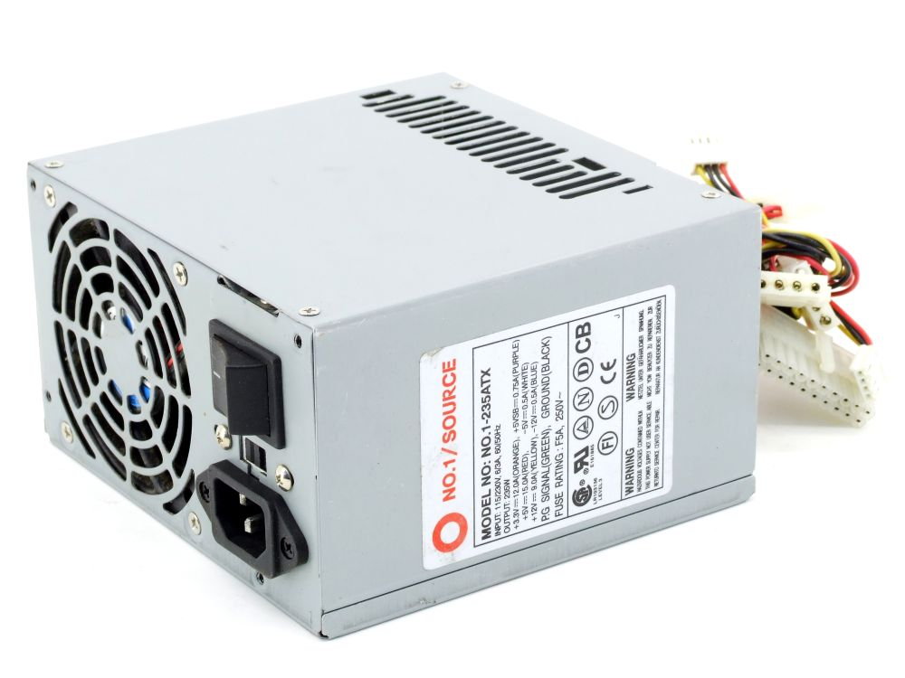 NO.1/Source NO.1-235ATX 235W Computer Power Supply Unit / Desktop PC Netzteil 4060787307606
