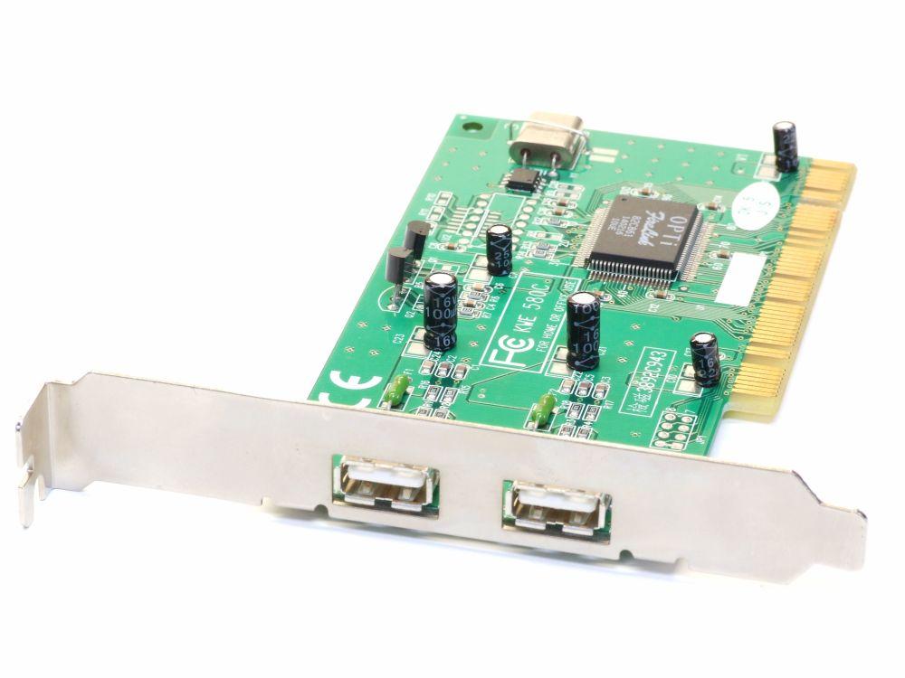 Kouwell 2 Port USB2.0 PCI Computer Controller Card/Schnittstellen-Karte KWE 580C 4060787194442