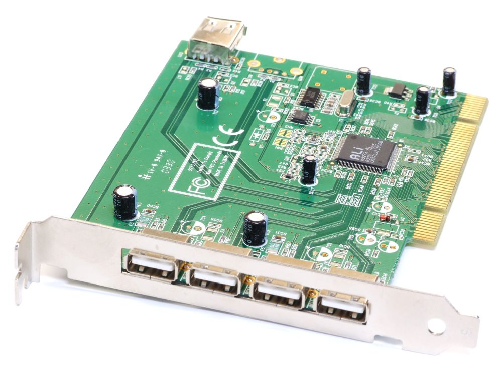 5-Port 4 external/1 internal USB PCI Card/Karte Computer Controller Hub Adapter 4060787195517