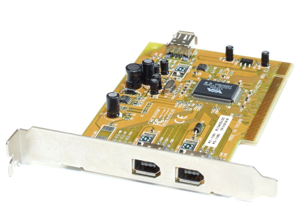 PMC PV-VT1394 2+1 Port Firewire IEEE1394 PCI Host Expansion Adapter Card/Karte 4060787196590