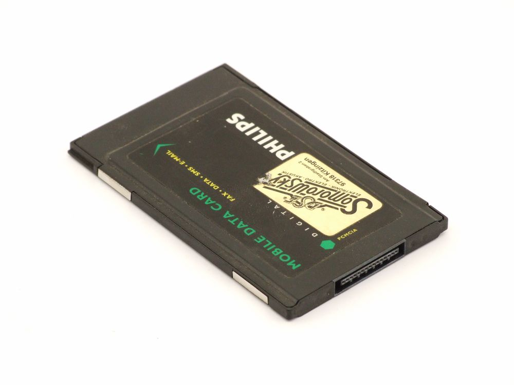 Philips DPA1 PCMCIA Mobile Fax Data SMS E-Mail Digital PC Card 5V Slot Adapter 4060787265203