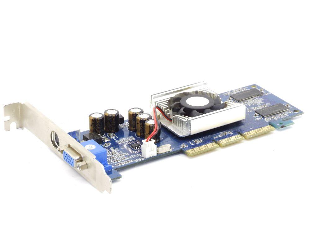 XFX PV-T18K GeForce4 MX440 AGP 8X 64MB DDR TV-Out VGA PC Video Card Grafikkarte 4060787282446