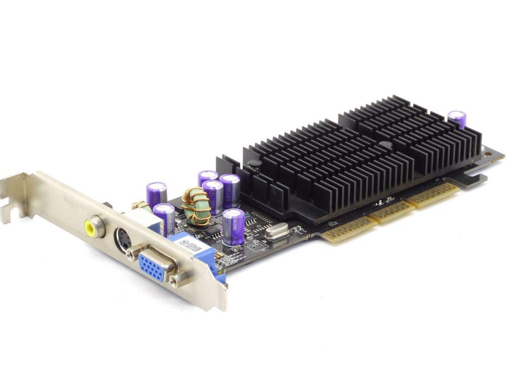 Nvidia GeForce4 MX4000-V64 64MB DDR VGA TV RCA Composite Cinch AGP Graphics Card 4060787282835
