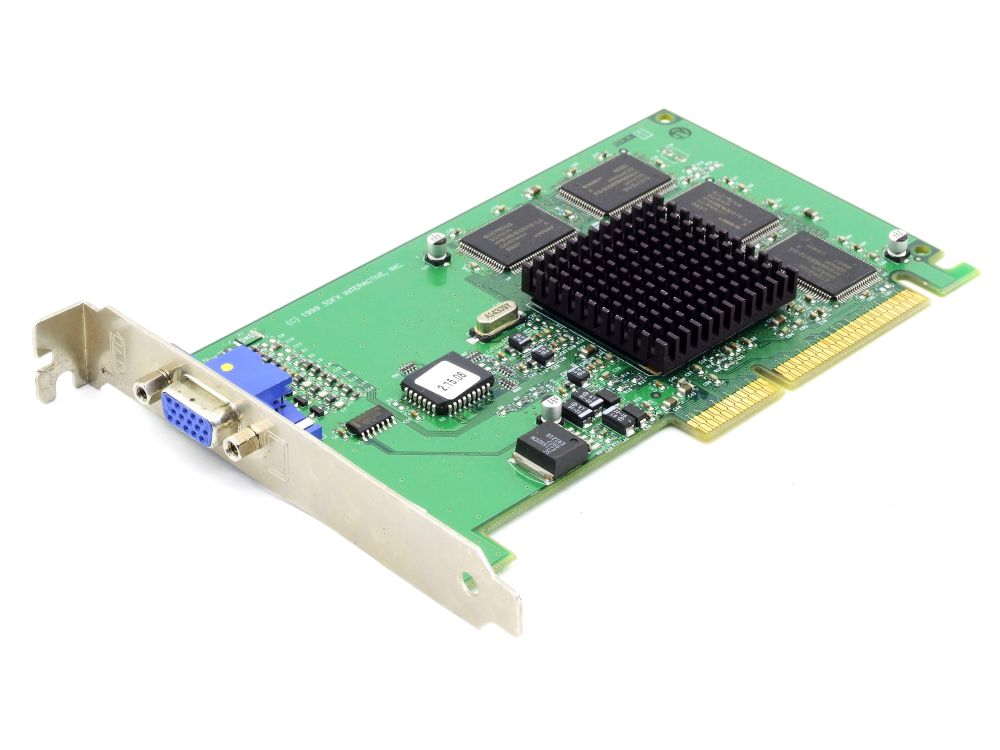3dfx 210-0380-001-A0 Velocity 100 Voodoo3 8MB AGP 3.3V Vintage Video Grafikkarte 4060787287410
