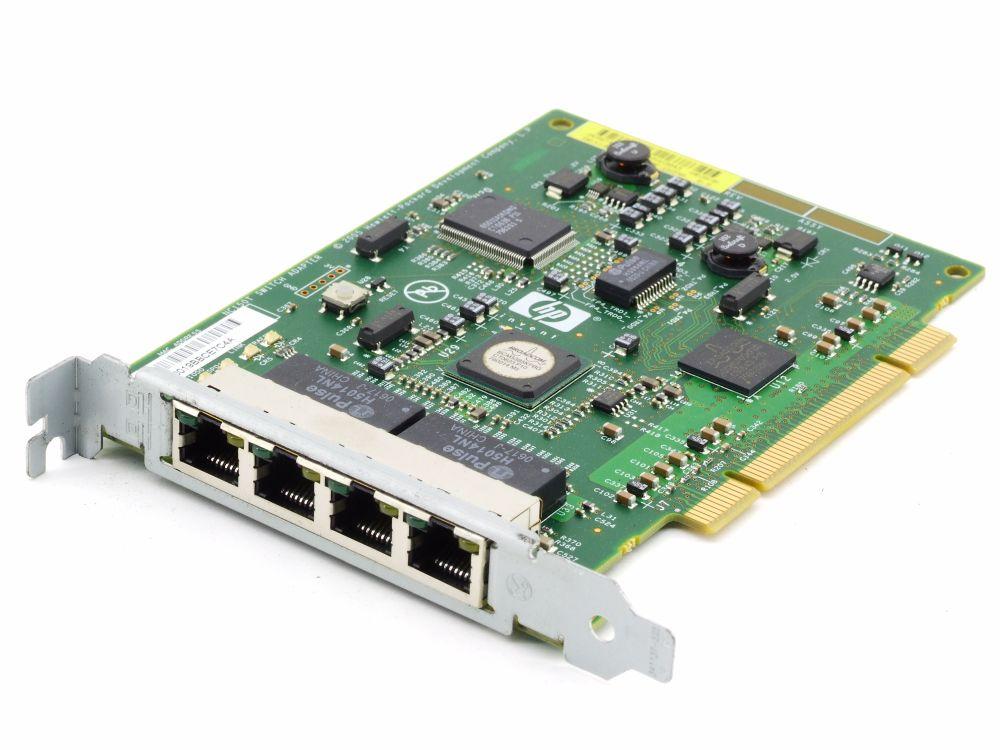 HP NC150T 4-Port RJ45 LAN Switch Adapter Broadcom PCI Network Card 395867 012882 4060787289865
