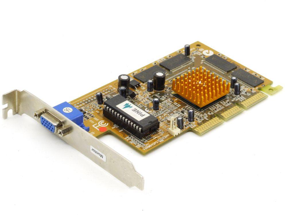 Pine PT-5988-2S Nvidia Riva TNT2 M64 Chip 32MB AGP VGA GPU Grafikkarte VARM645PS 4060787294548