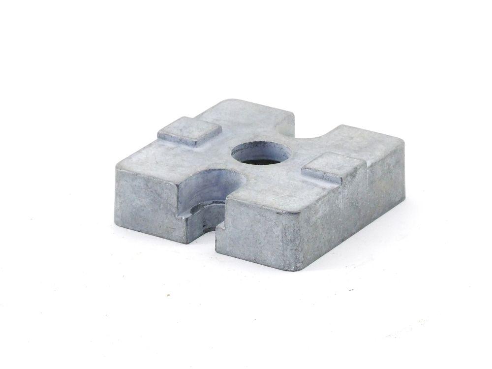 Aluprofil 45mm H=13 Vierkant-Profil-Verbinder Endfuß Anschluss-Element Endstück 4060787315700