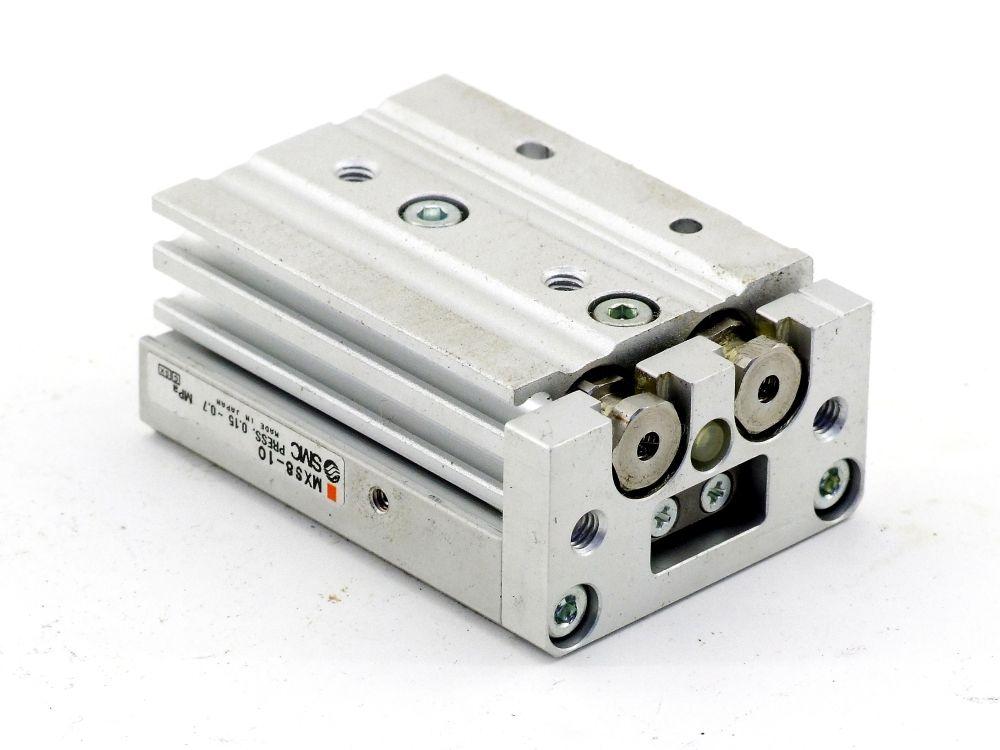 SMC MXS8-10 Führungszylinder Pneumatik Kompaktschlitten Air Slide Table Hub 10MM 4060787319449