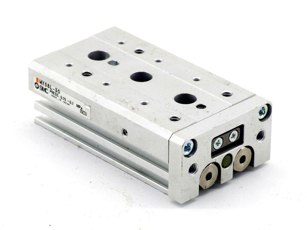 SMC MXS8L-30 Druckluft Führungszylinder Kompaktschlitten Pneumatic Slide Table 4060787319524