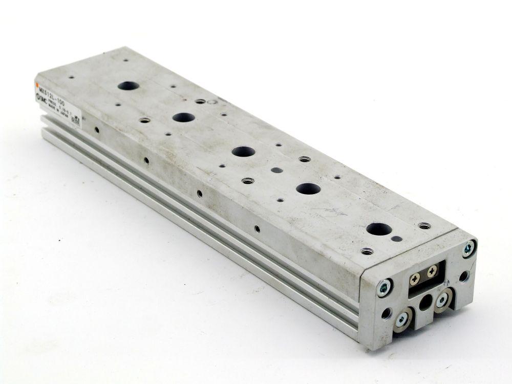 SMC MXS12L-100 Pneumatic Slide Table Druckluft-Zylinder Kompaktschlitten Hub 100 4060787319630