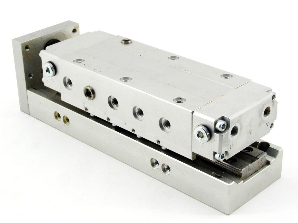 Domino LM8F-60 Pneumatisches Linearmodul Slide Cylinder Druckluft Linearführung 4060787320094