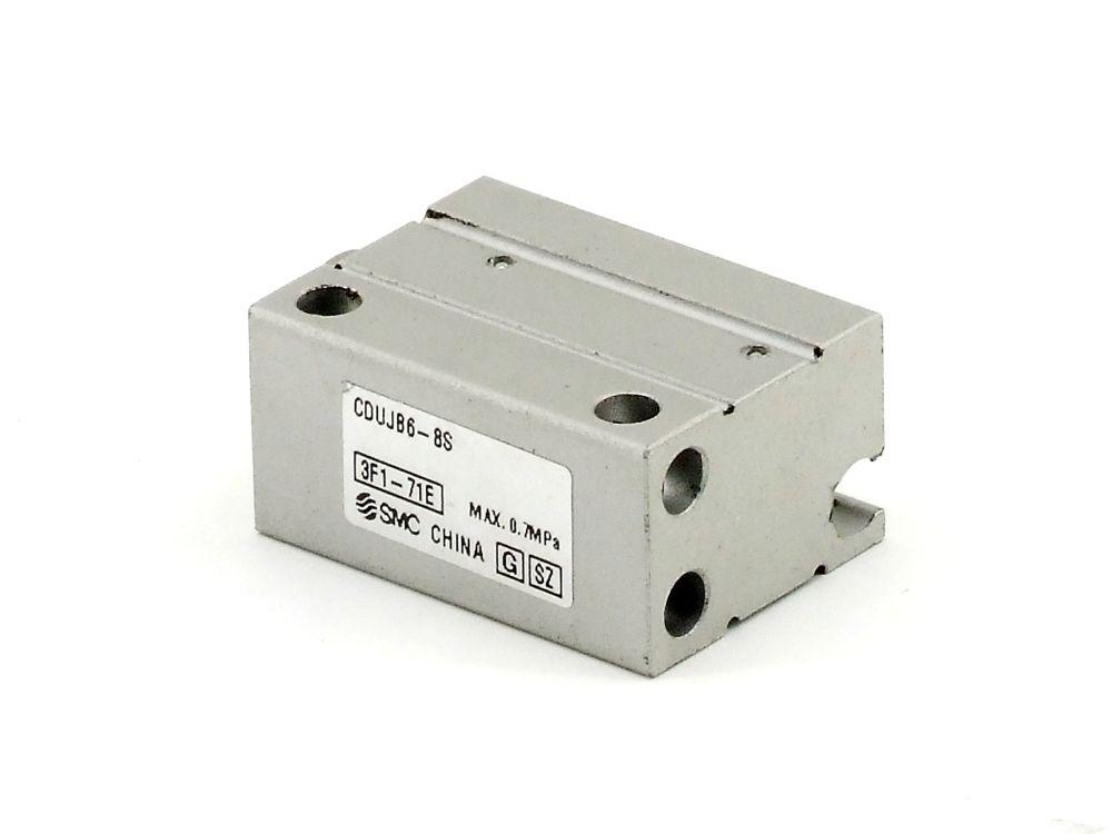 SMC CDUJB6-8S Druckluft Kompakt-Miniaturzylinder Pneumatic Compact Mini Cylinder 4060787320193