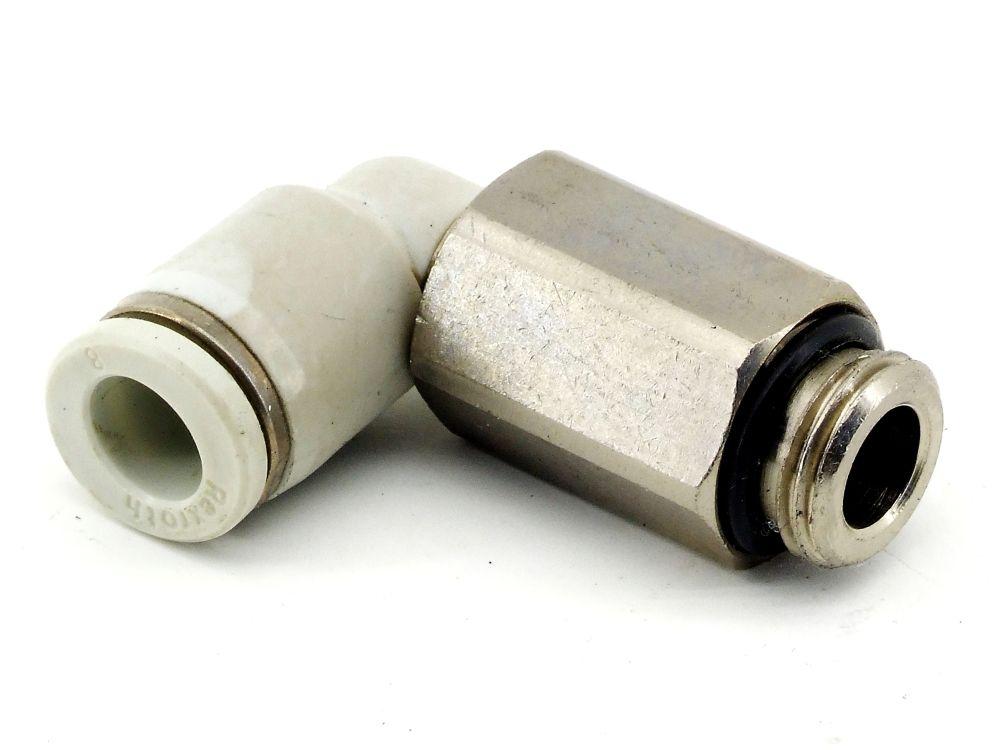 Rexroth 2122108140 Pneumatik Druckluft Winkel 8mm Winkelverschraubung QR1-RVL 4060787321138