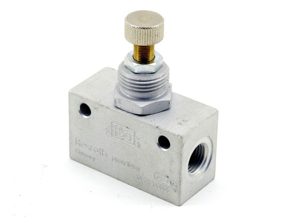 Rexroth 0821200005 Drosselrückschlagventil Pneumatik Durchfluss-Regler-Ventil 4060787322678