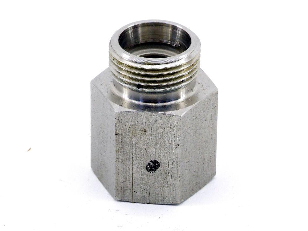 Hydraulik TR Reduzierstutzen M22 Aufschraub-Verbinderstück M20 Anschluss-Adapter 4060787323934