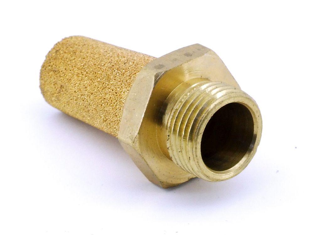 Pneumatik G3/8 Schraubanschluss SW22 Schalldämpfer Druckluft Filter Connector 4060787325211