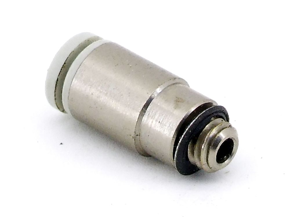 SMC KGS04-M5 Pneumatik Steckverschraubung Druckluft Schraubverbindung Fitting 4060787325716