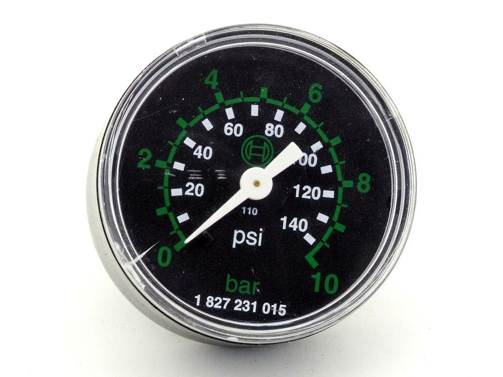 Rexroth Aventics 1827231015 Pneumatik Rohrfeder-Manometer Druckluft Uhr PG1-SNL 4060787326232