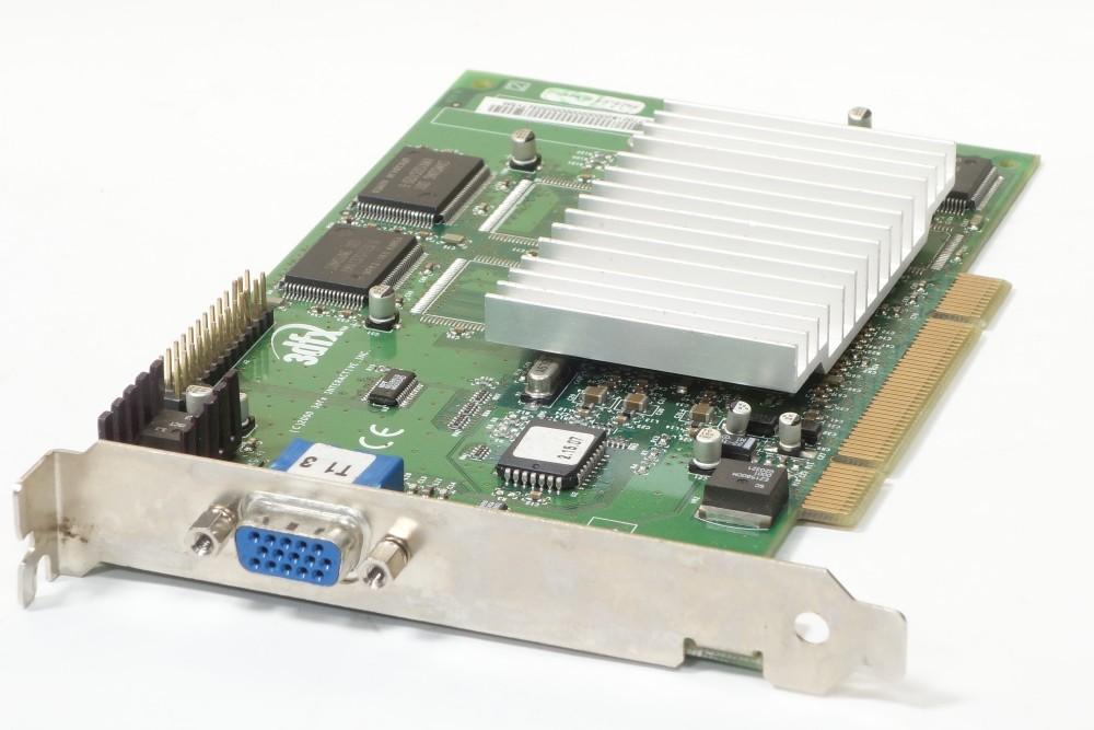 3Dfx Voodoo 3 3000 Vintage 16MB PCI Graphics Card Grafikkarte VGA 210-0382-004 4060787184955