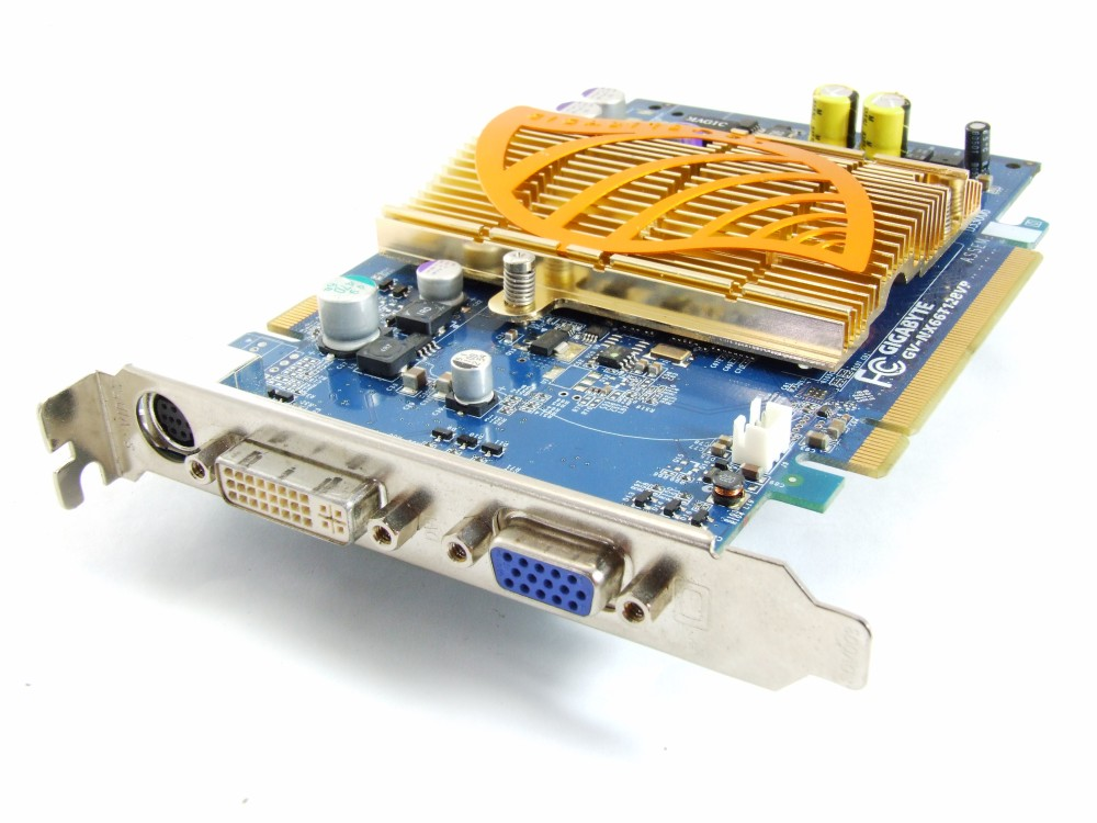 Gigabyte GV-NX66T128VP GeForce 6600GT 128MB GDDR3 128bit Graphics Card DVI VGA 4060787252401