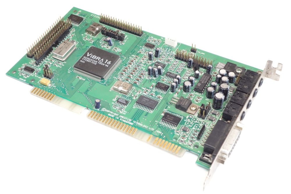 Creative Sound-Blaster Vibra 16 CT2260 ISA DOS PC Audio-Card Vintage Sound-Karte 4060787152497