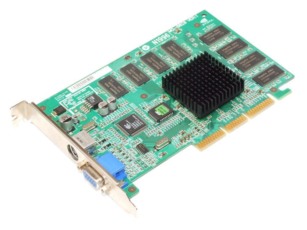 Gainward VGA-GWV06-6 nVidia GeForce2 MX400 64MB AGP Computer Video Graphics Card 4060787285126