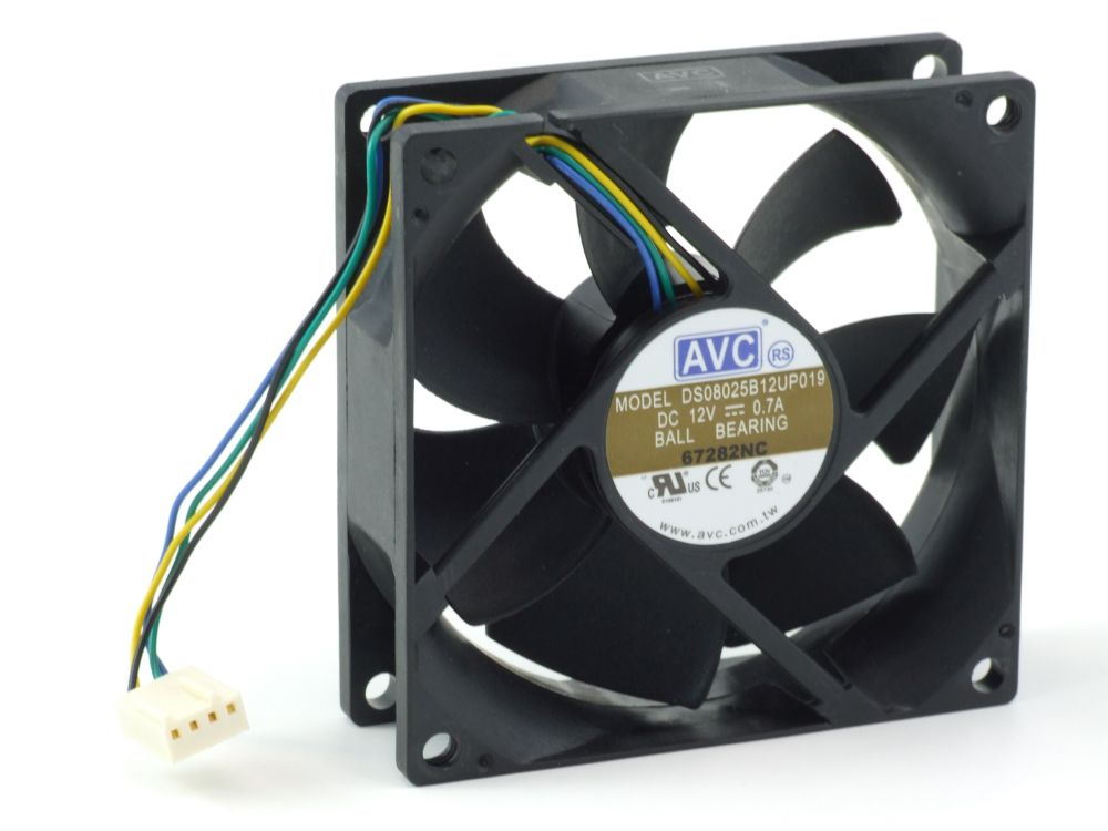 AVC DS08025B12UP019 Processor PC Cooling Fan/CPU-Lüfter 80x25mm 0.7A DS08025B12U 4060787206251