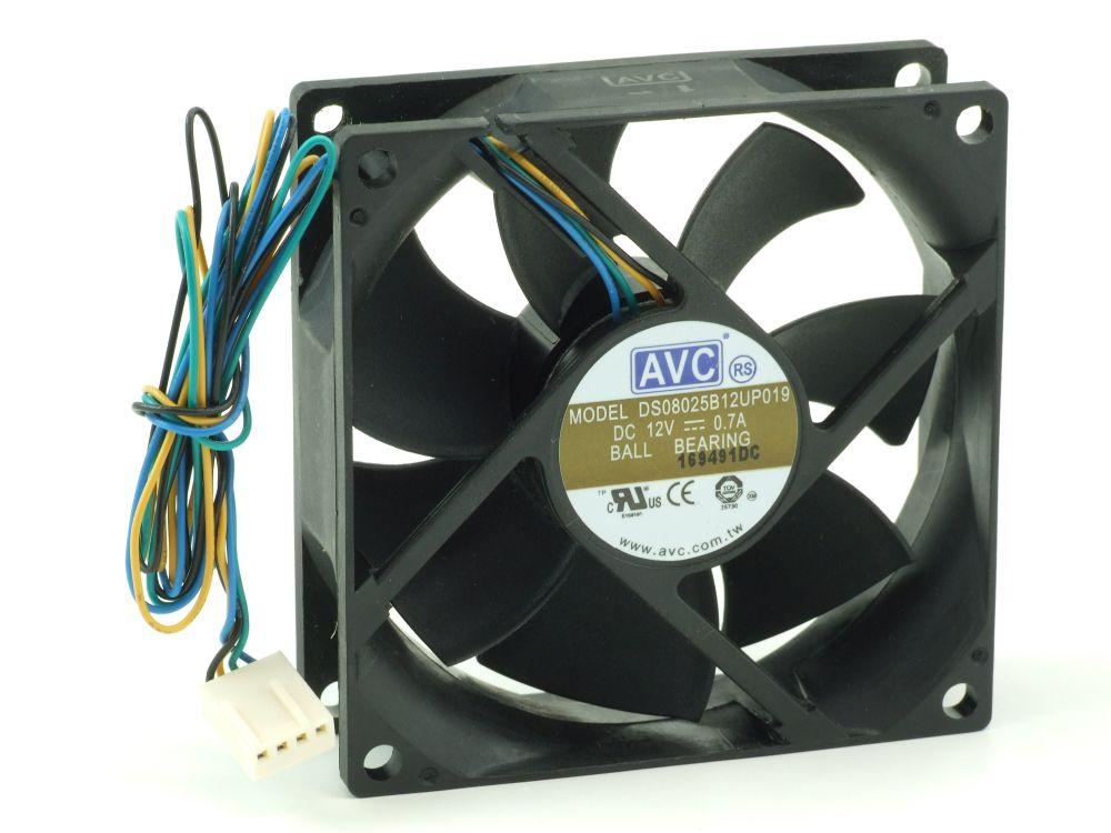 Axial CPU/Case Fan Prozessor-/Gehäuse-Lüfter 80x80x25mm 12V 0.7A 8.4W 4-Wire/Pin 4060787206275