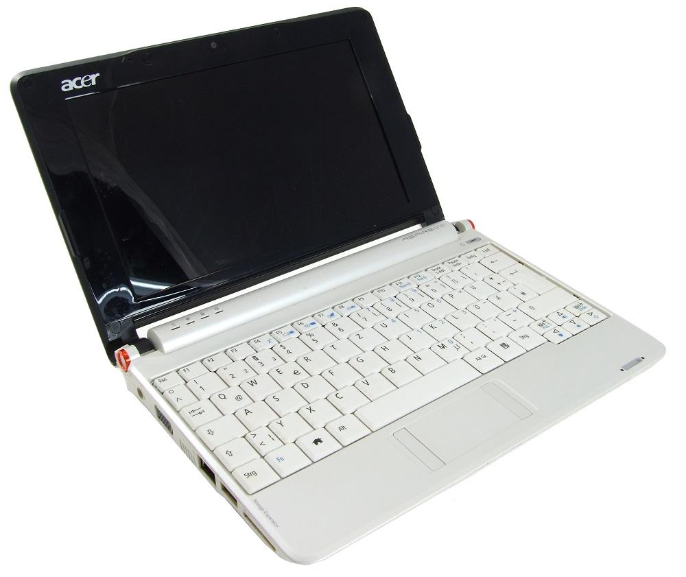 Acer ZG5 Netbook Intel Atom N270 1.6GHz CPU 8GB SSD 512MB RAM A150 faulty/defekt 4060787262929