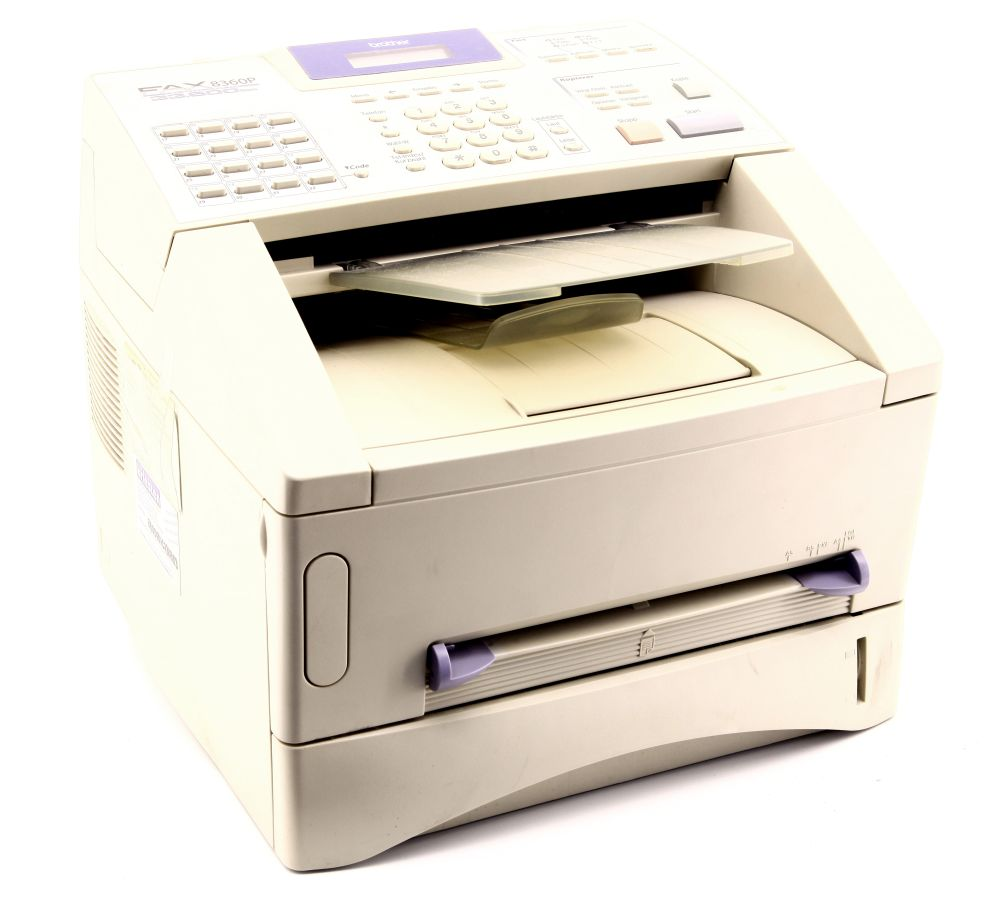 Brother FAX-8360P Laser Fax Faxgerät Kopierer 33600bps bit/s 33.6k faulty/defekt 4060787266859