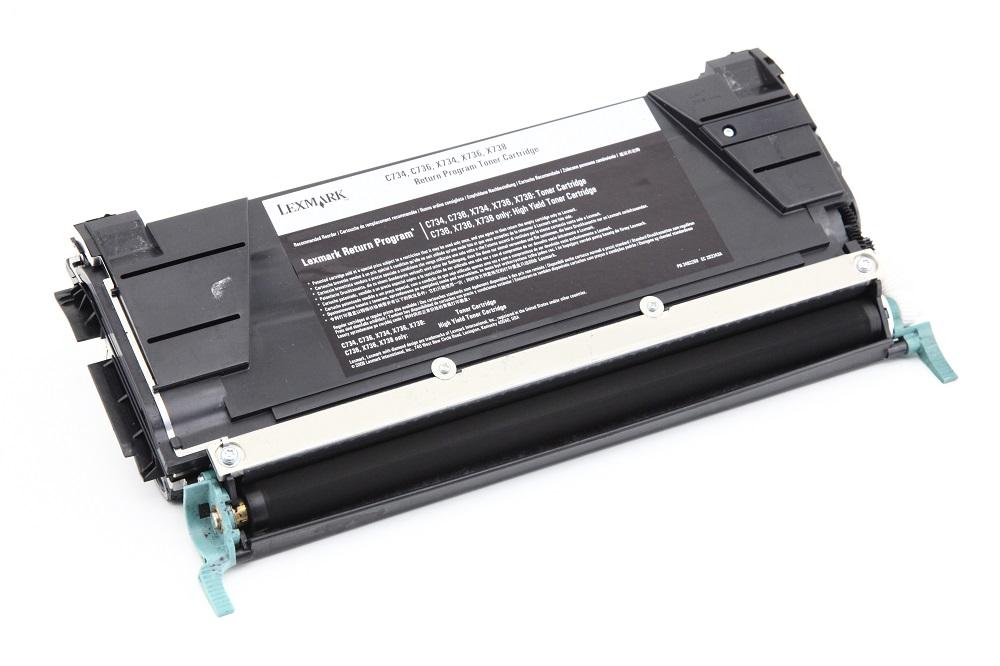 genuine Lexmark C734A1MG Magenta Toner Printer Cartridge 90% C736 X734 X736 X738 4060787268099