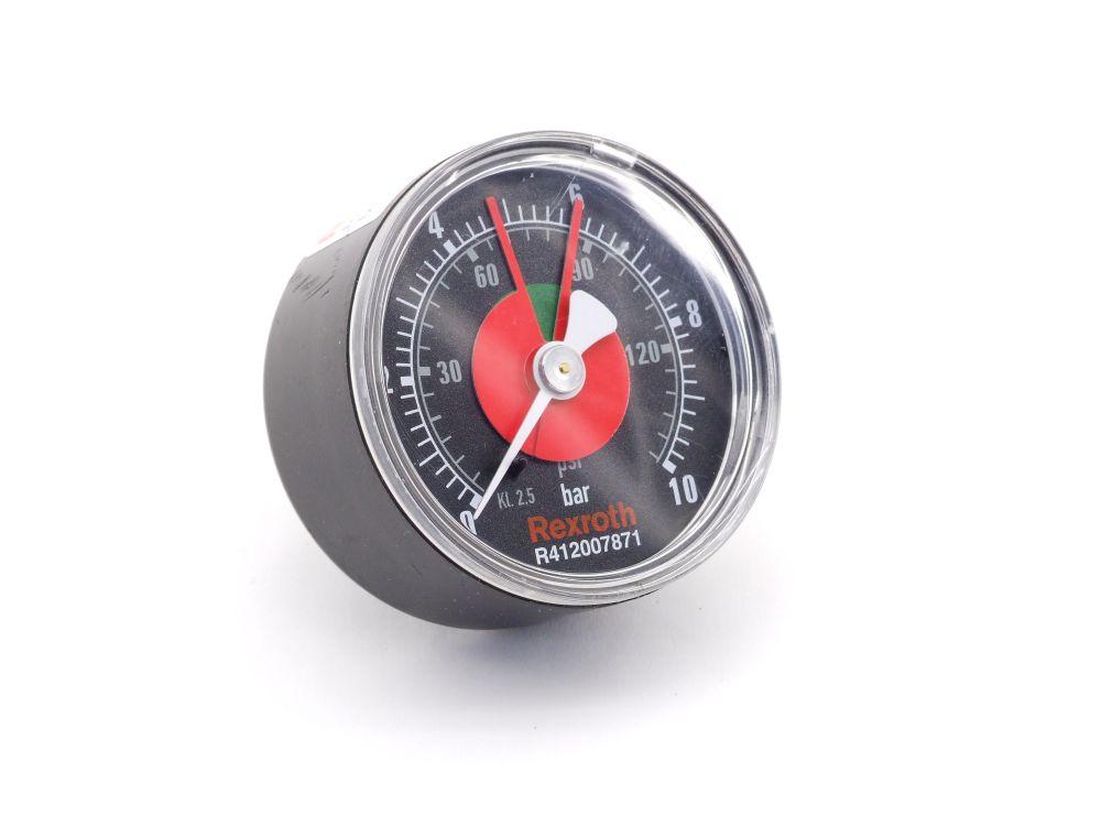 Rexroth Aventics Pressure Gauge Manometer Druckanzeiger G1/4 0-10bar R412007871 4060787274564