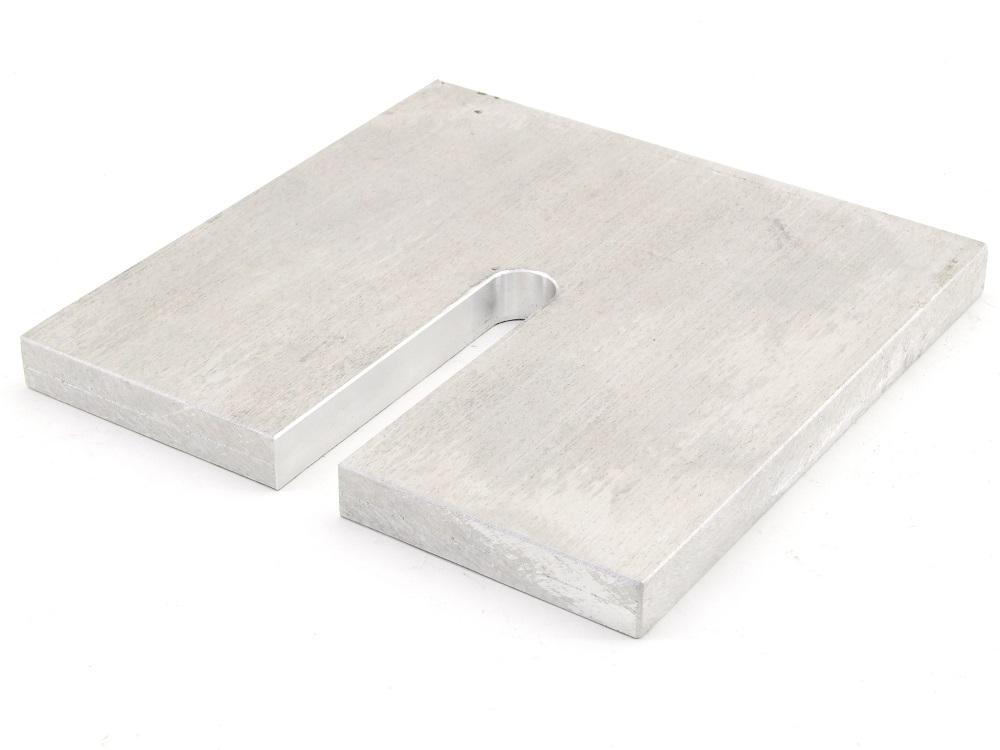 Aluminum-Platte 180x180x15mm Alu Platte Tafel Metall plan quadratisch CNC-Fräsen 4060787274632