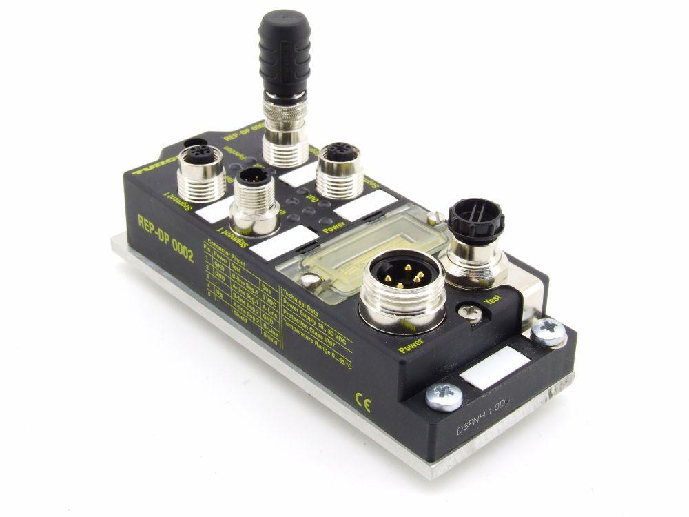 Turck REP-DP 0002 PROFIBUS Repeater Feldbus 24V 60mA 9.6Kbit/s-12Mbit/s 6825354 4060787275301