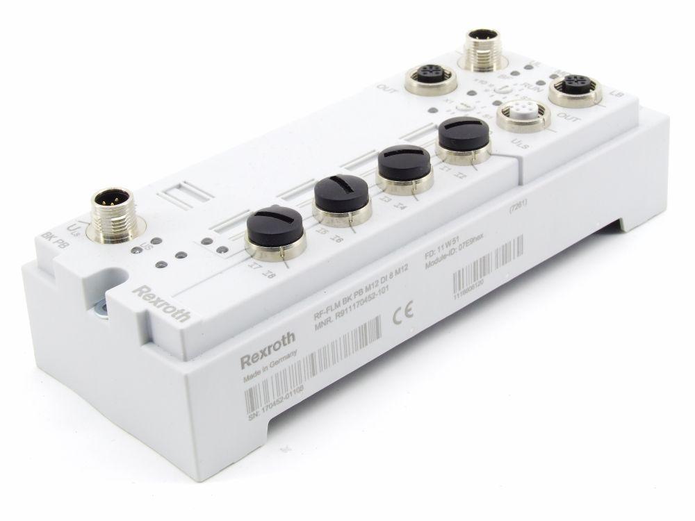 Rexroth Fieldline Modular Buskoppler PROFIBUS 24VDC 8x dig. Input R911170452-101 4060787276179