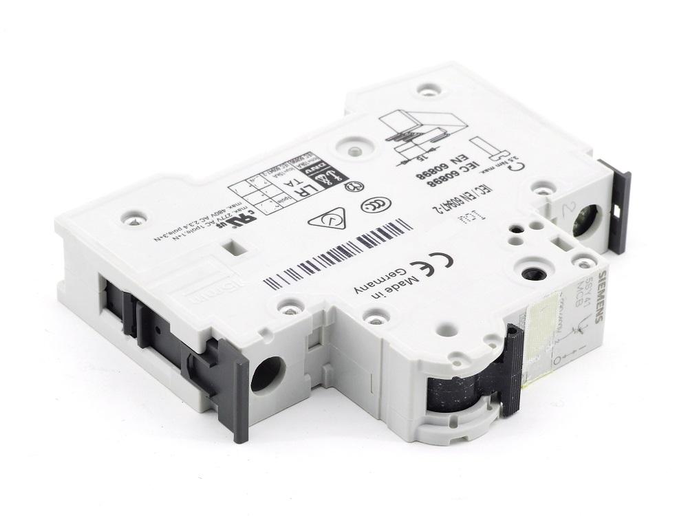 Siemens 5SY41 MCB C1,6 Leitungsschutzschalter 1.6A 230/400V Circuit Breaker C1.6 4001869181318