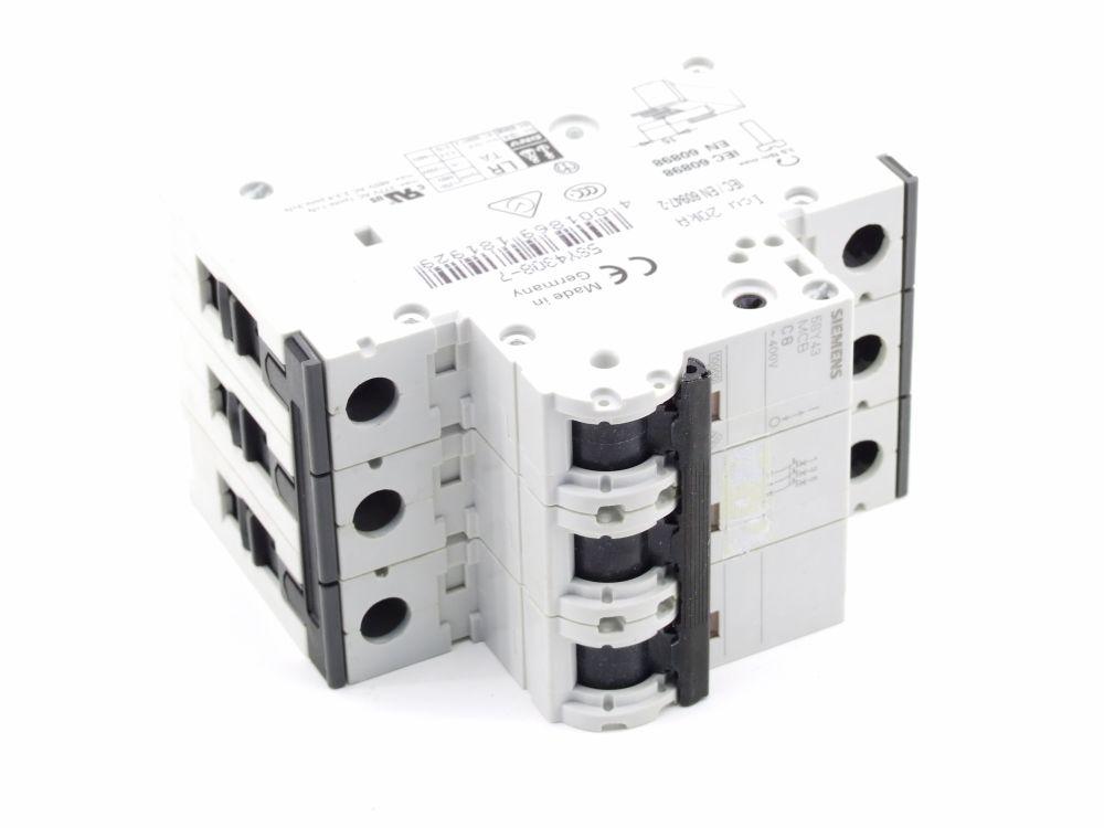 Siemens 5SY43 MCB C8 Sicherungsautomat 8 Ampere Leitungsschutzschalter 5SY4308-7 4001869181929