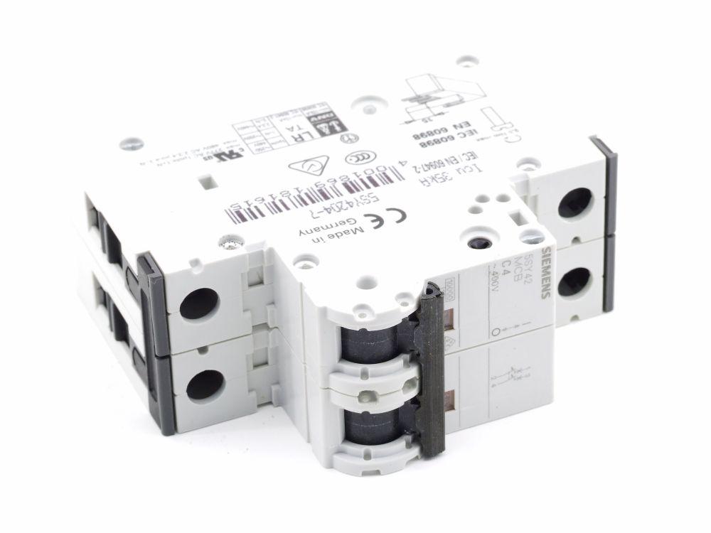Siemens 5SY42 MCB C4 Leitungsschutz-Schalter Circuit Breaker 4A 400V 5SY4204-7 4001869181615