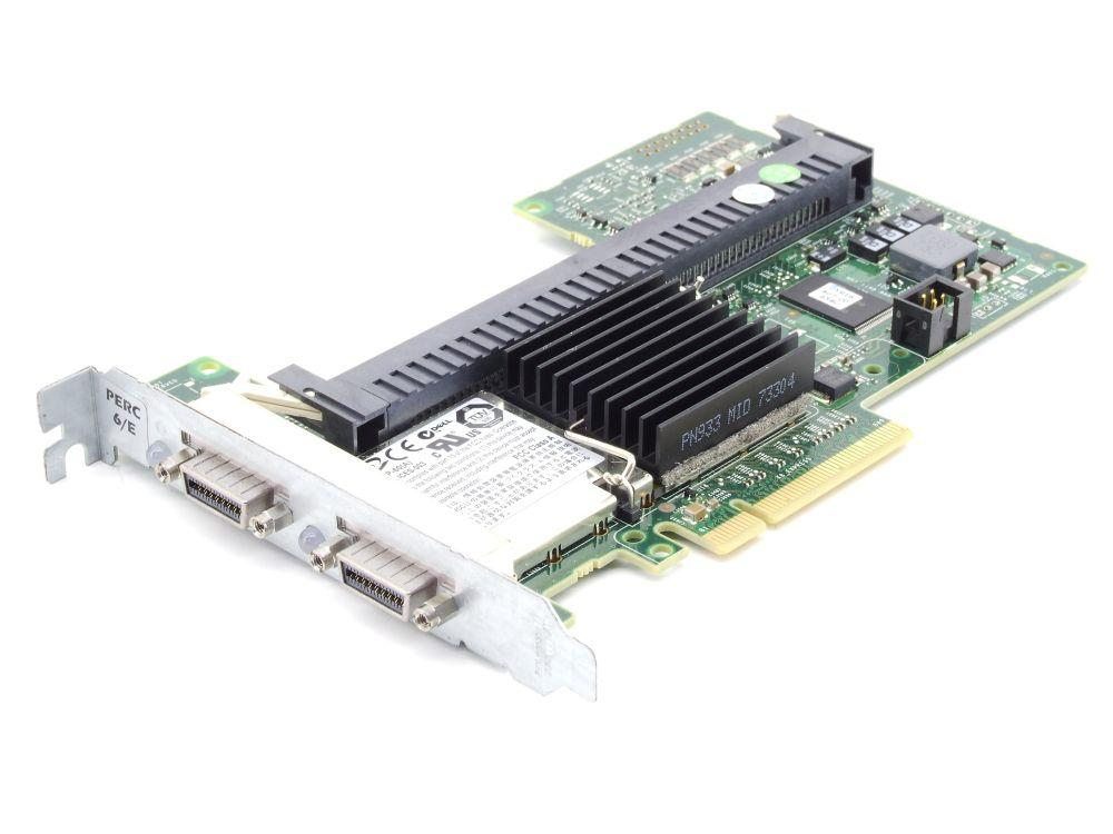 Dell 0J155F PERC 6/E 3Gb/s SAS SATA RAID Controller Card PCI Express J155F PCIe 4060787282903