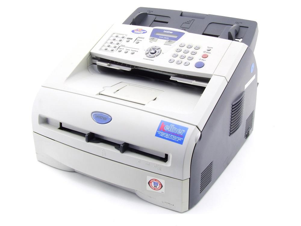 Brother FAX-2820 Büro Mono Laser Fax-Gerät B/W Fax 14.400bit/s max. 8000 S./pp 4977766633796
