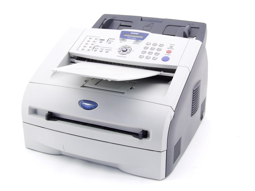 Brother FAX-2820 Monochrome S/W Laser Fax-Gerät Fax 14400bps 3256 Seiten/Pages 4977766633796