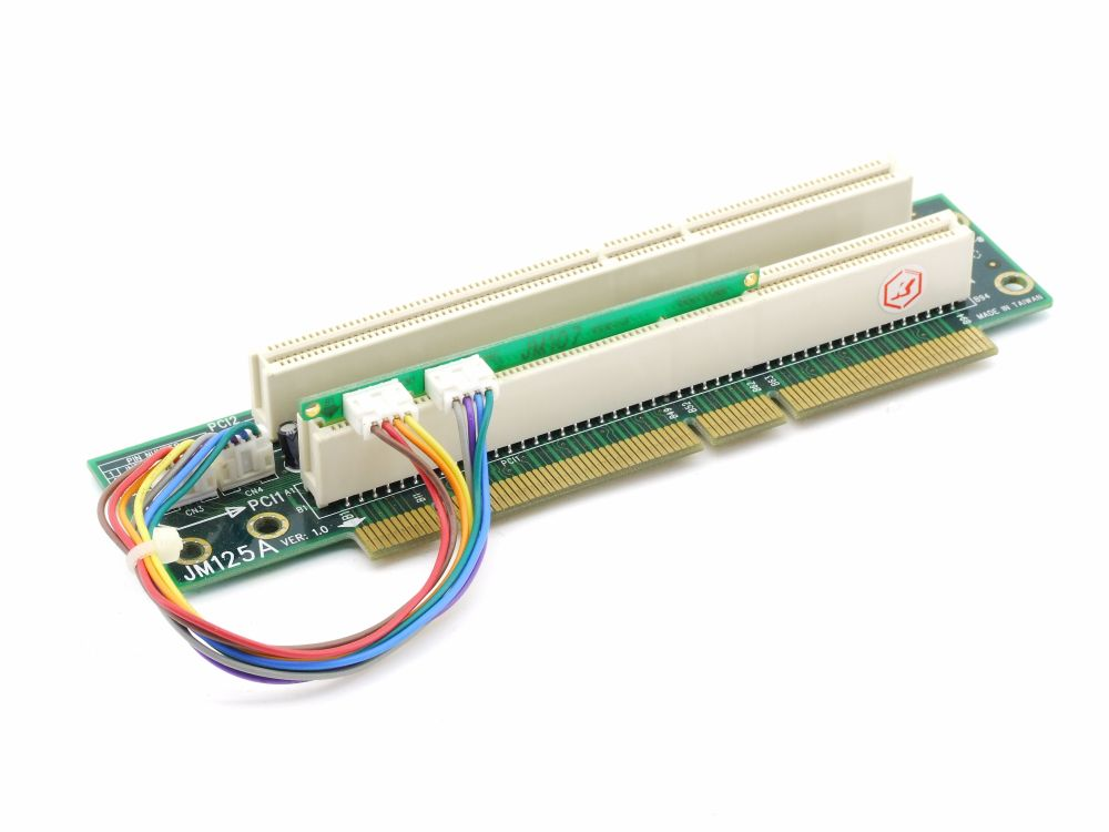 JM125A + JM107 Dual Slot 2x PCI-X 64 Bit Server Riser Add-On Card Board Ver. 1.0 4060787288837
